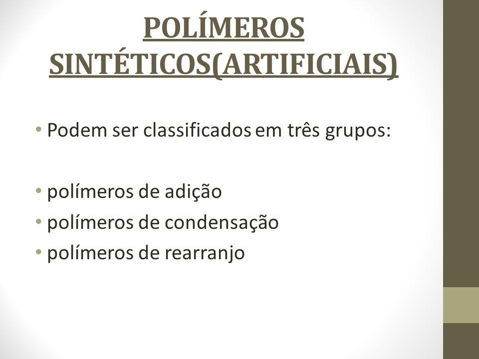 POLÍMEROS SINTÉTICOS(ARTIFICIAIS)