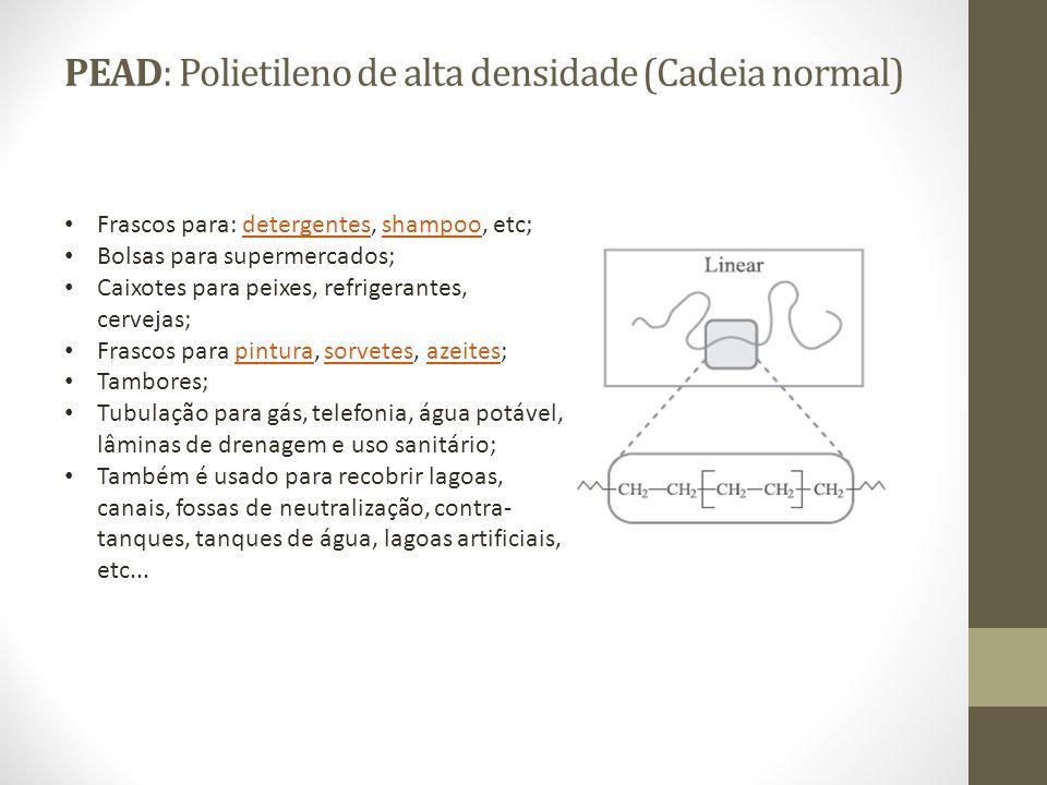 PEAD: Polietileno de alta densidade (Cadeia normal)