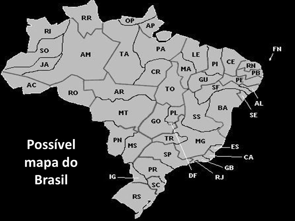 Possível mapa do Brasil