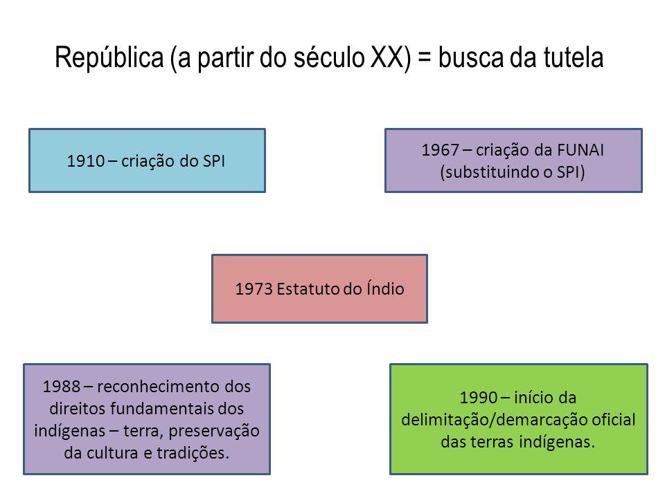 República (a partir do século XX) = busca da tutela