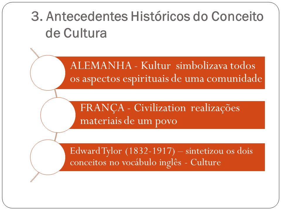 3. Antecedentes Históricos do Conceito de Cultura