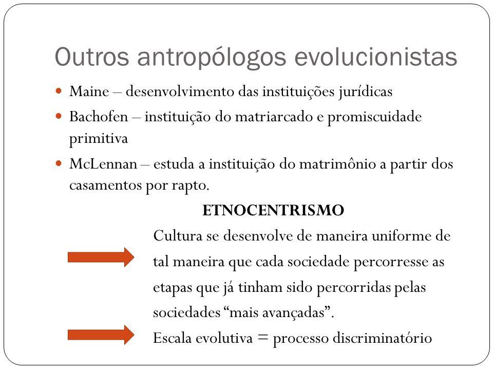 Outros antropólogos evolucionistas