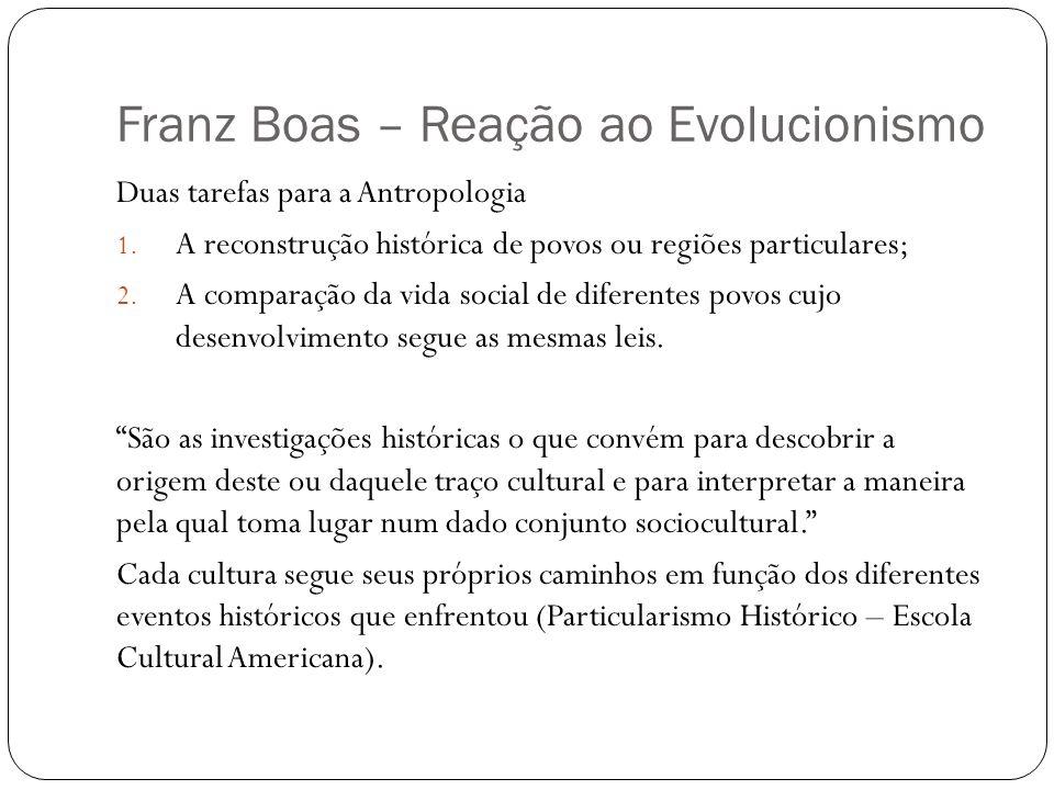 Franz Boas – Reação ao Evolucionismo