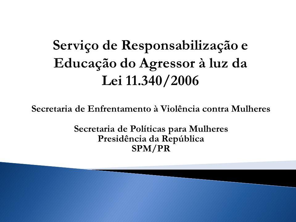 Serviço de Responsabilização e Educação do Agressor à luz da Lei 11