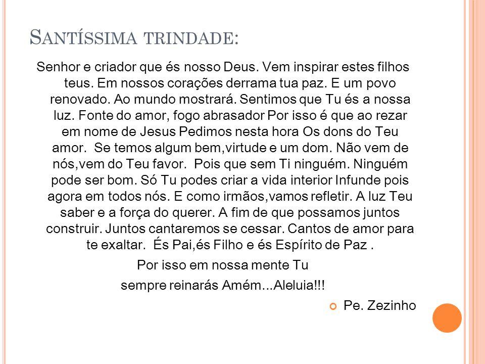 Santíssima trindade: