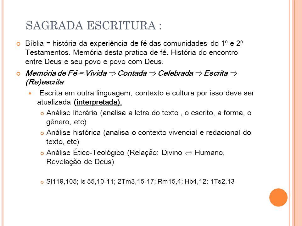 SAGRADA ESCRITURA :