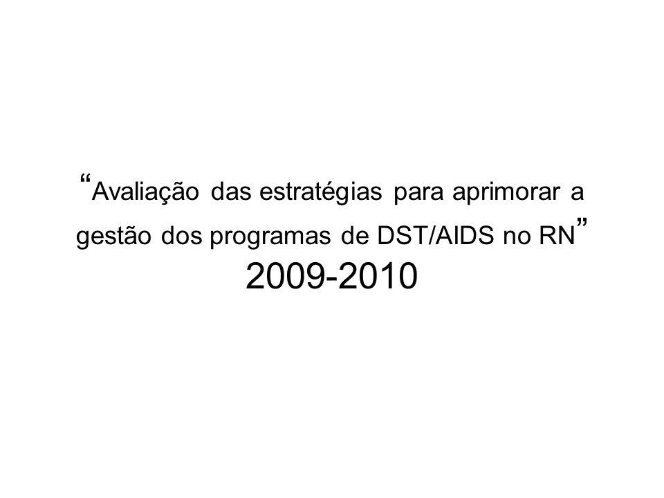 Avaliação das estratégias para aprimorar a gestão dos programas de DST/AIDS no RN 2009-2010