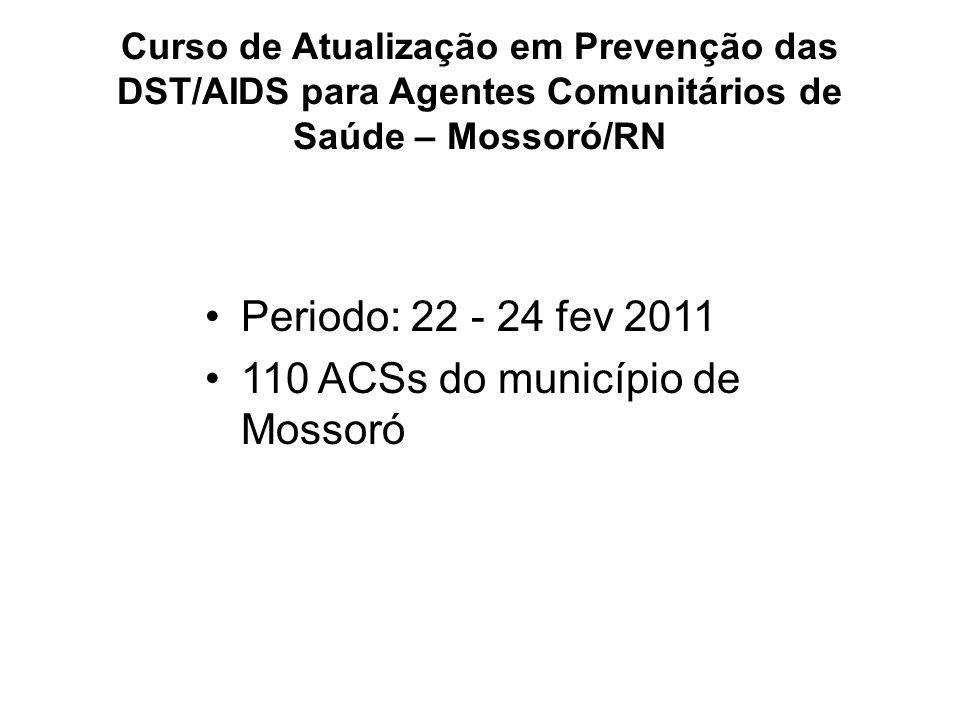 110 ACSs do município de Mossoró