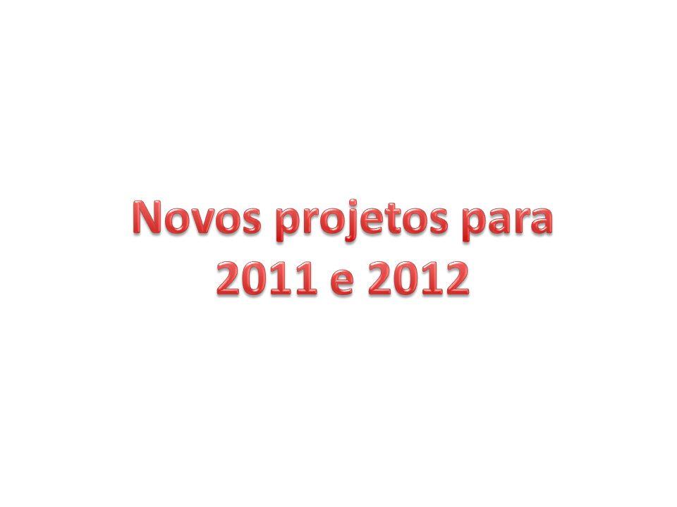 Novos projetos para 2011 e 2012