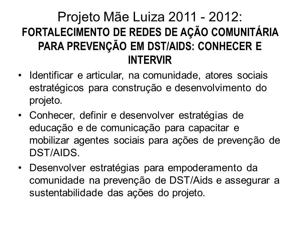 Projeto Mãe Luiza 2011 - 2012: FORTALECIMENTO DE REDES DE AÇÃO COMUNITÁRIA PARA PREVENÇÃO EM DST/AIDS: CONHECER E INTERVIR