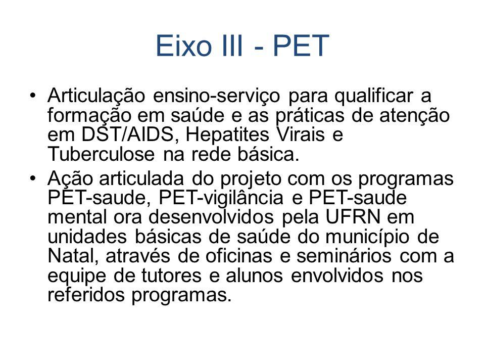 Eixo III - PET