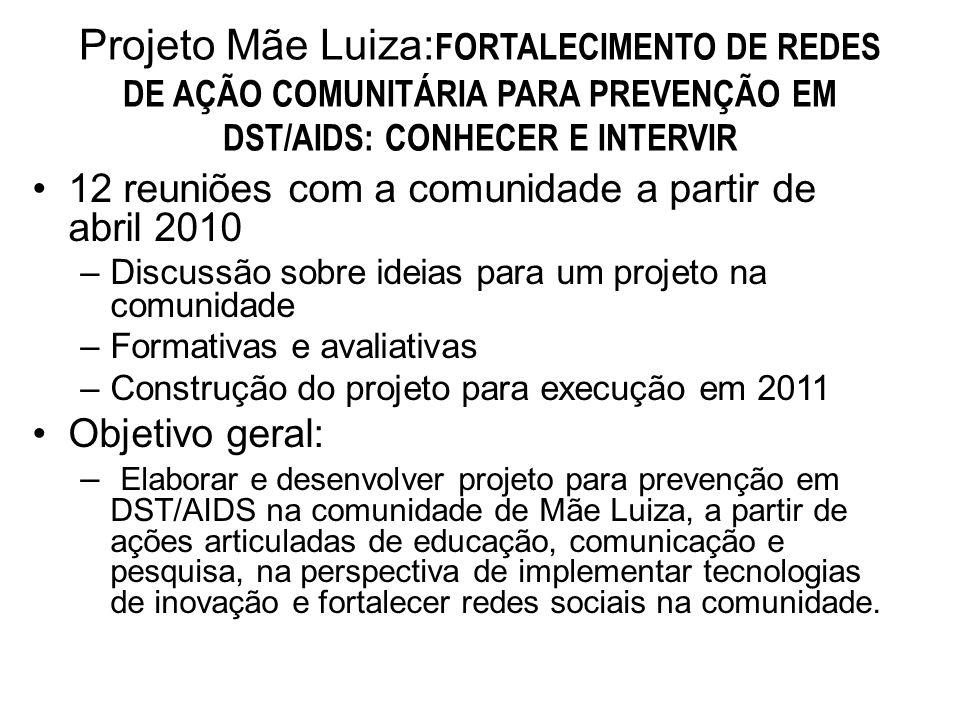 Projeto Mãe Luiza:FORTALECIMENTO DE REDES DE AÇÃO COMUNITÁRIA PARA PREVENÇÃO EM DST/AIDS: CONHECER E INTERVIR