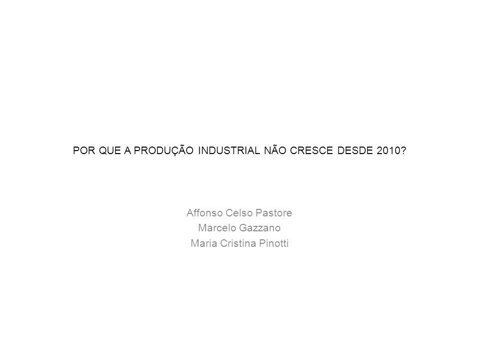 POR QUE A PRODUÇÃO INDUSTRIAL NÃO CRESCE DESDE 2010