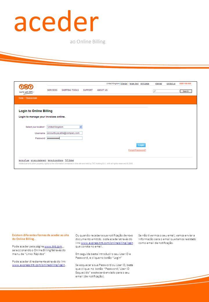 aceder ao Online Billing