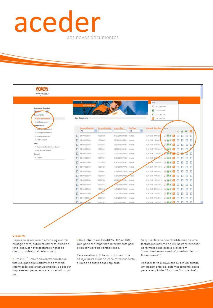 aceder aos novos documentos Visualizar