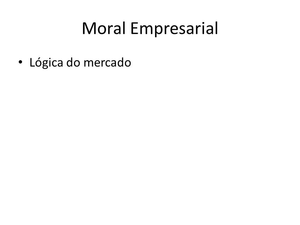 Moral Empresarial Lógica do mercado