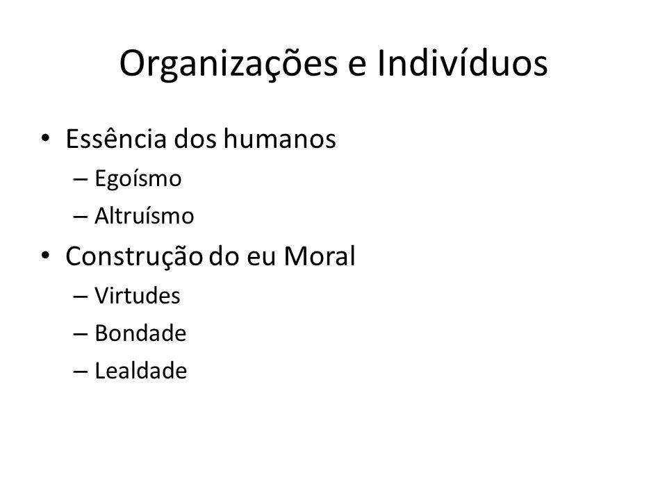 Organizações e Indivíduos