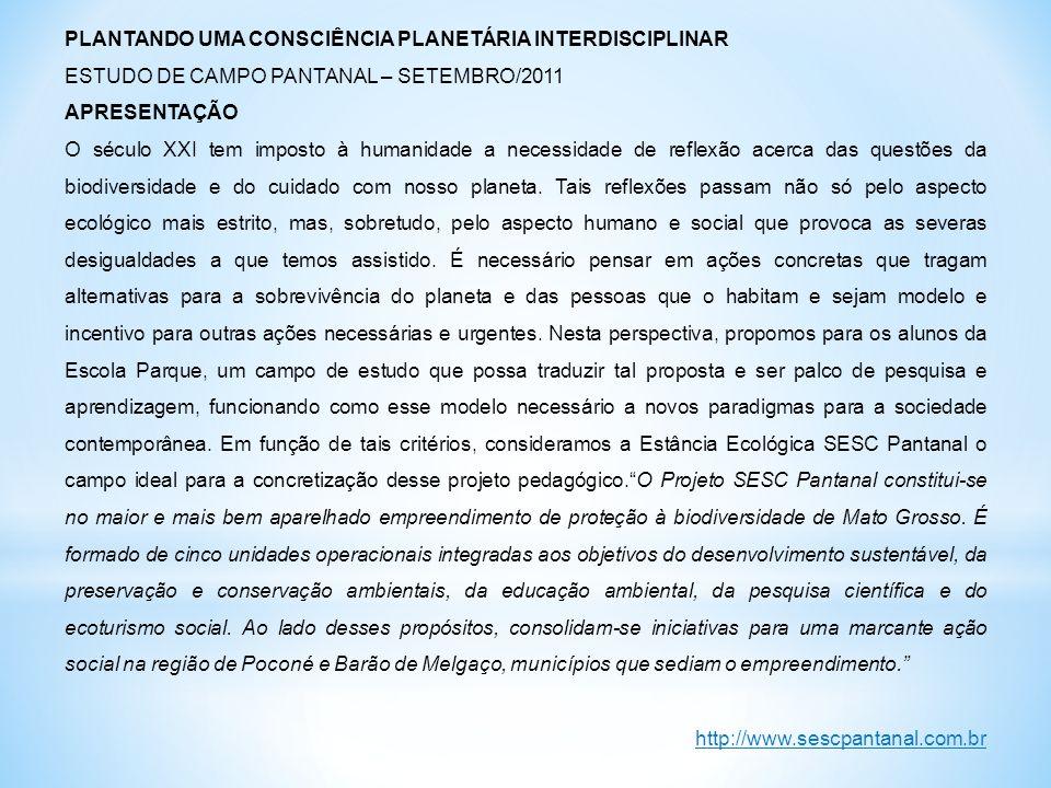 PLANTANDO UMA CONSCIÊNCIA PLANETÁRIA INTERDISCIPLINAR