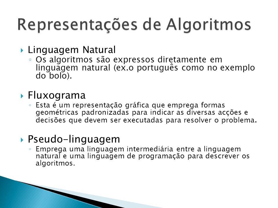 Representações de Algoritmos