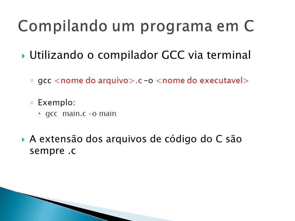 Compilando um programa em C