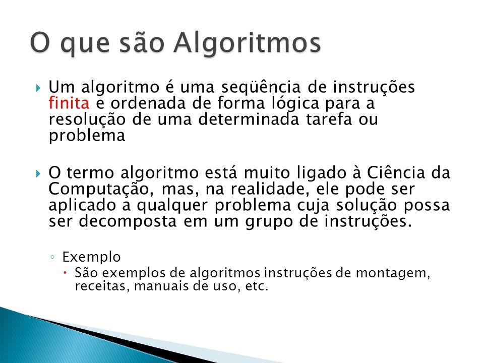 O que são Algoritmos