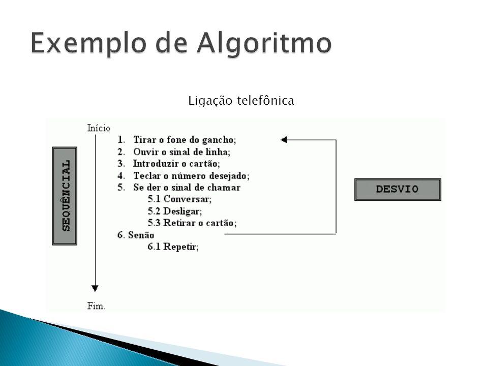 Exemplo de Algoritmo Ligação telefônica
