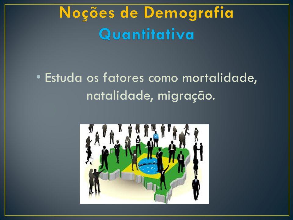Noções de Demografia Quantitativa