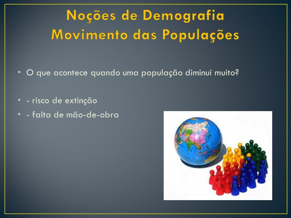 Noções de Demografia Movimento das Populações
