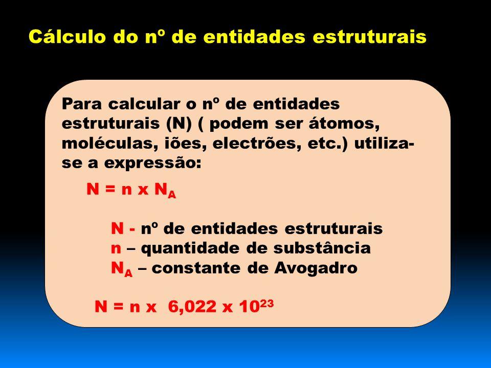 Cálculo do nº de entidades estruturais