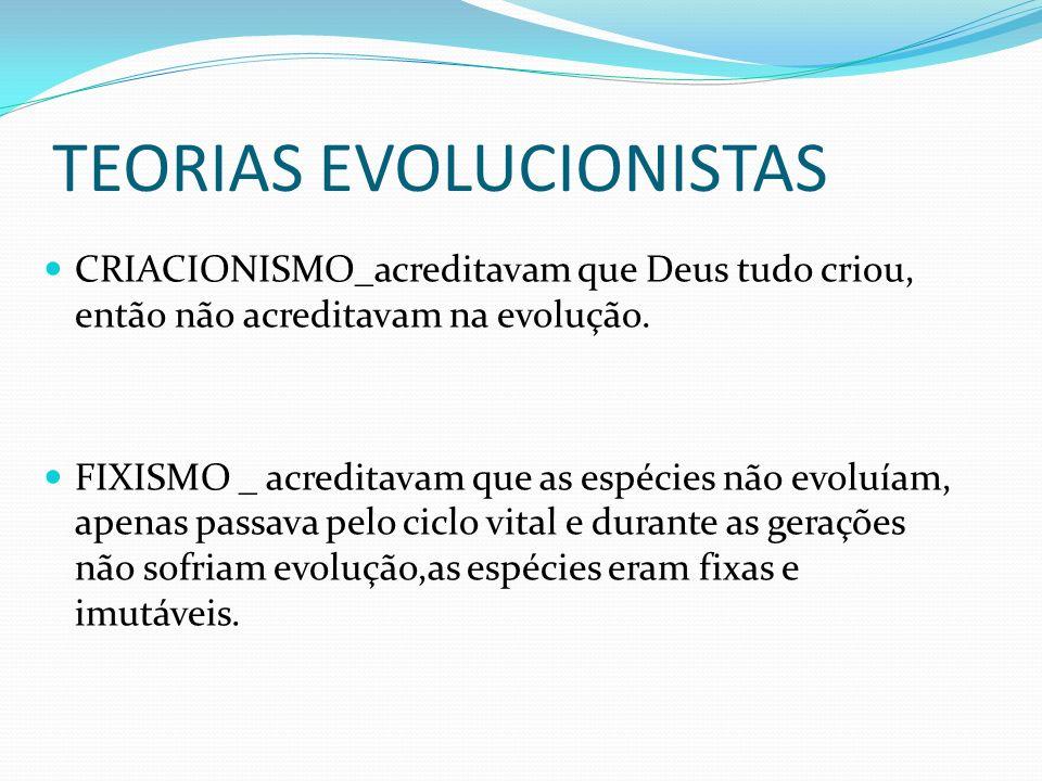 TEORIAS EVOLUCIONISTAS
