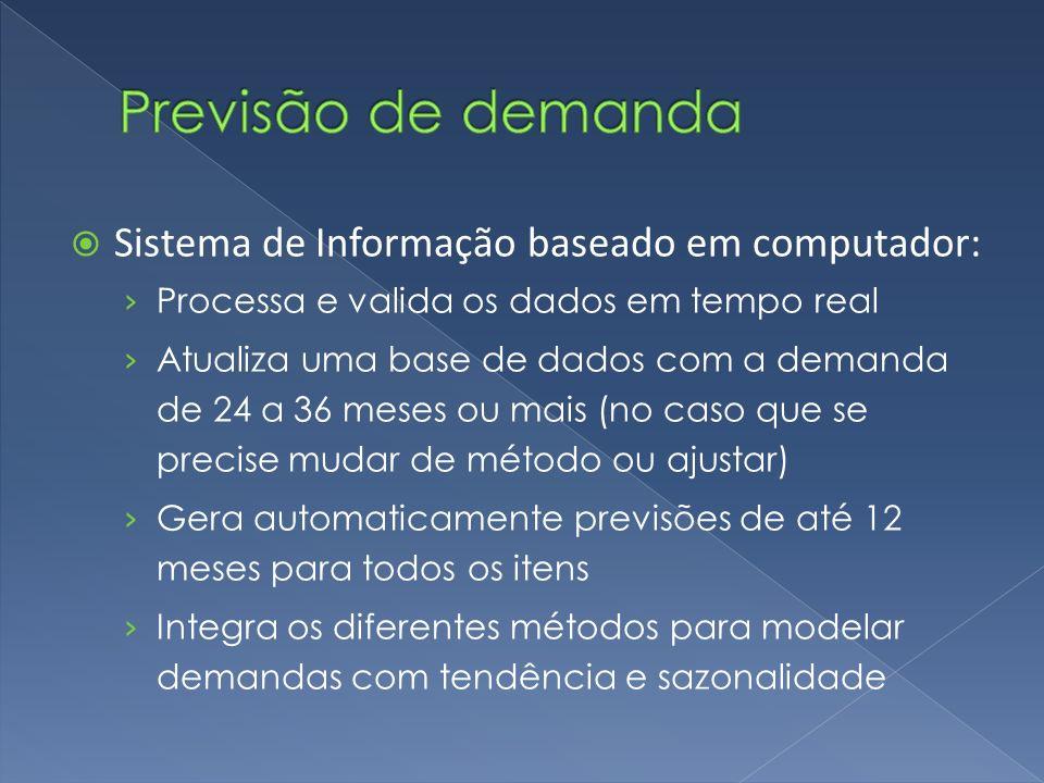 Previsão de demanda Sistema de Informação baseado em computador: