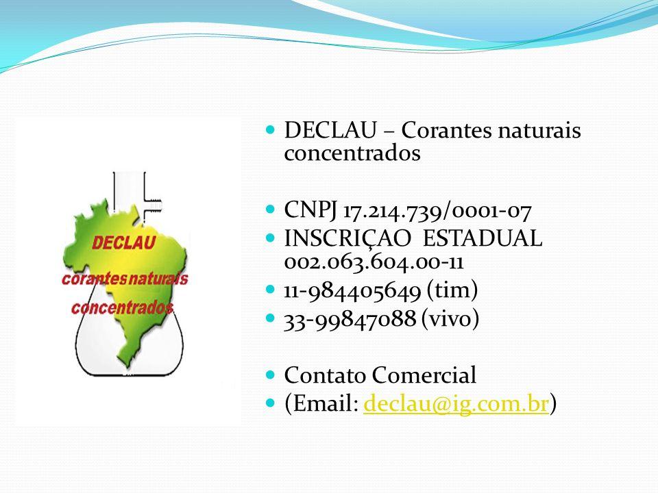 DECLAU – Corantes naturais concentrados