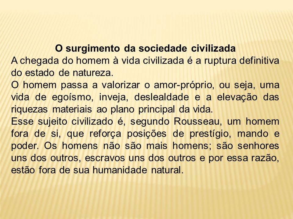 O surgimento da sociedade civilizada