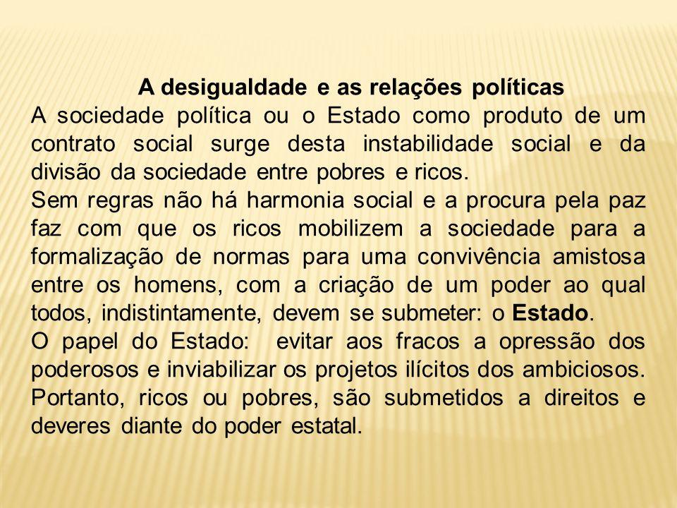 A desigualdade e as relações políticas