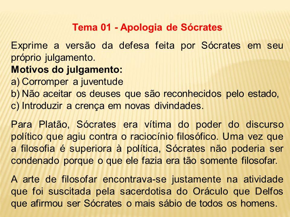 Tema 01 - Apologia de Sócrates