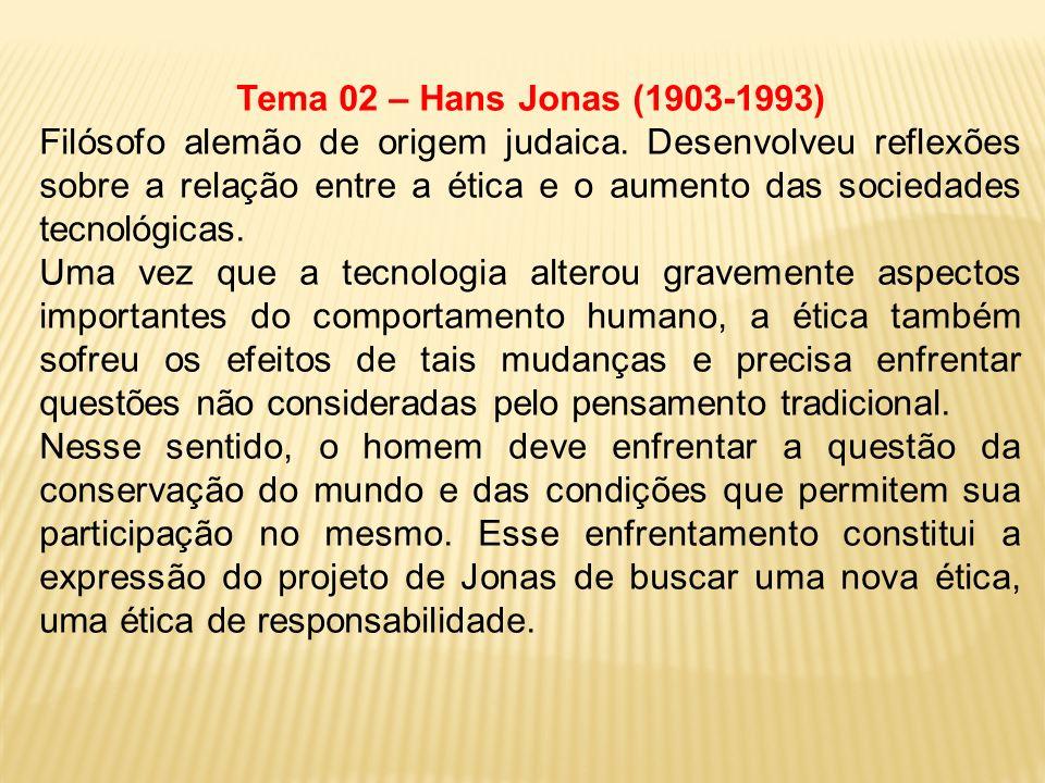 Tema 02 – Hans Jonas (1903-1993)