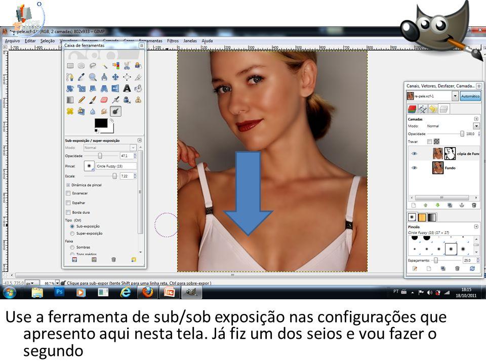 Use a ferramenta de sub/sob exposição nas configurações que apresento aqui nesta tela.