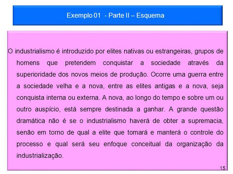 Exemplo 01 - Parte II – Esquema
