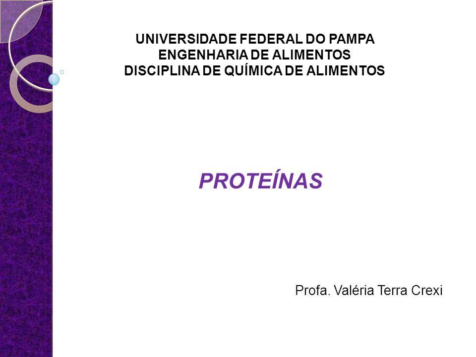 PROTEÍNAS UNIVERSIDADE FEDERAL DO PAMPA ENGENHARIA DE ALIMENTOS