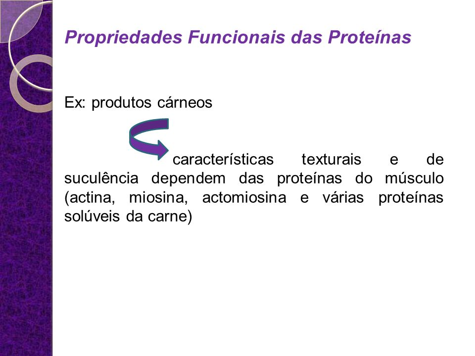 Propriedades Funcionais das Proteínas