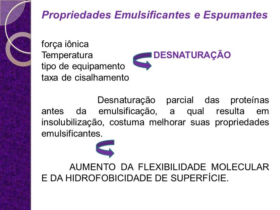 Propriedades Emulsificantes e Espumantes