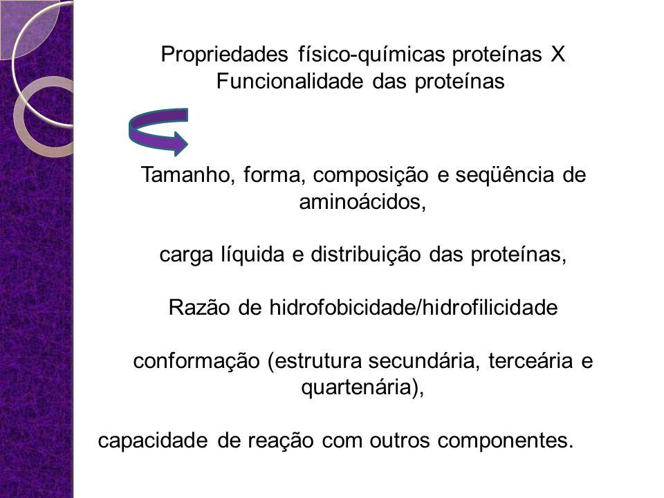 Tamanho, forma, composição e seqüência de aminoácidos,