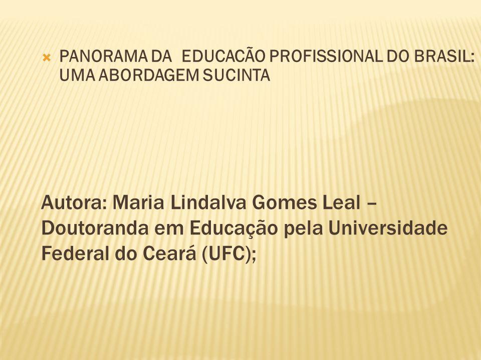 PANORAMA DA EDUCACÃO PROFISSIONAL DO BRASIL: UMA ABORDAGEM SUCINTA