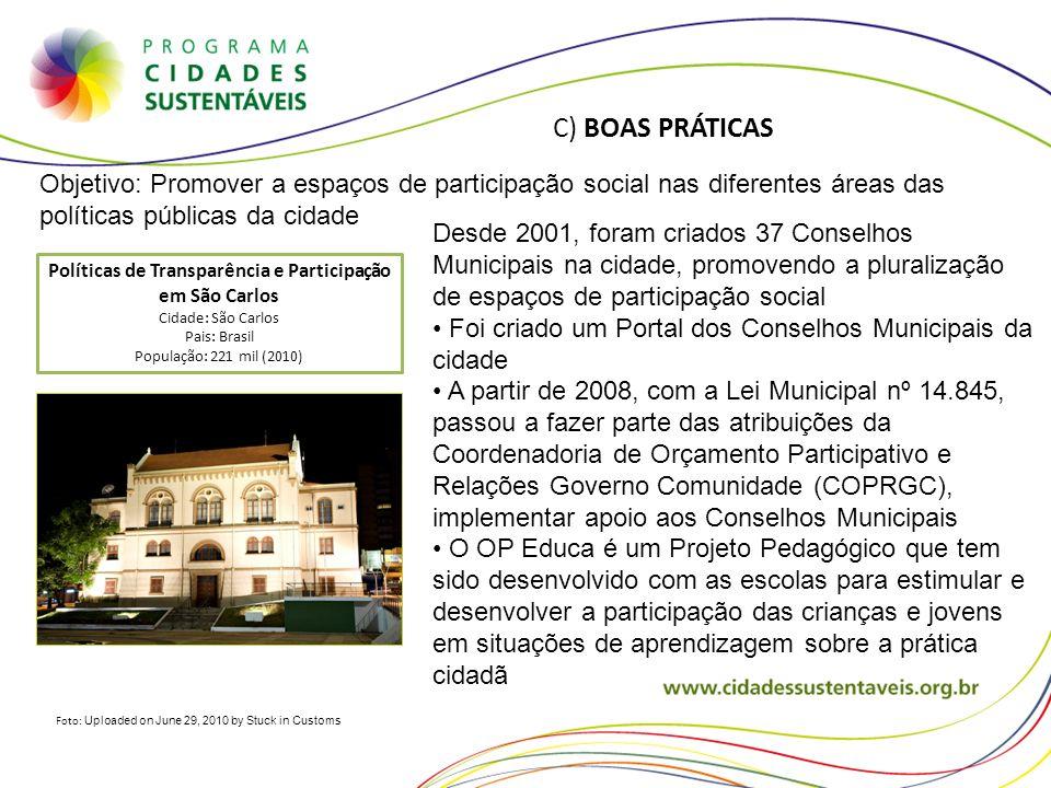 Políticas de Transparência e Participação em São Carlos