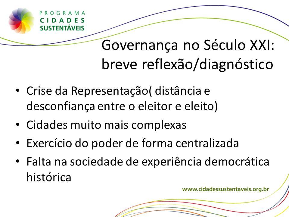 Governança no Século XXI: breve reflexão/diagnóstico