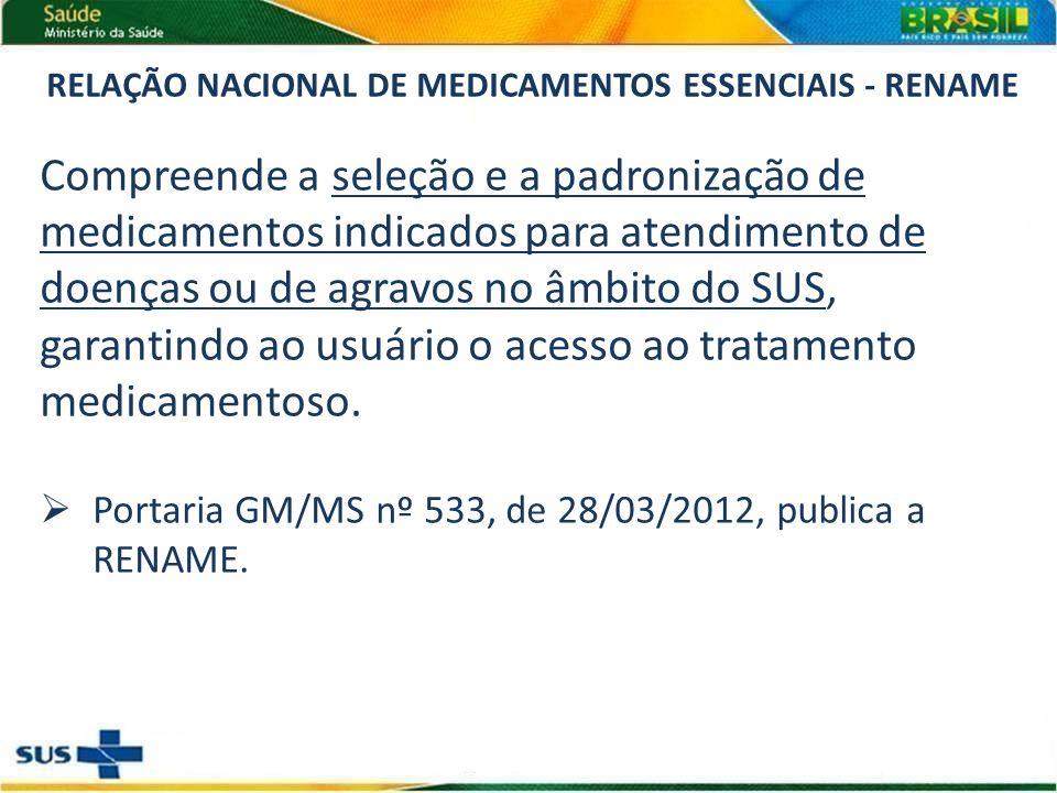RELAÇÃO NACIONAL DE MEDICAMENTOS ESSENCIAIS - RENAME