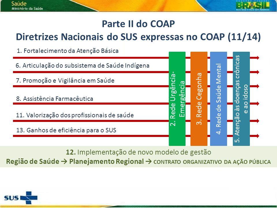 Diretrizes Nacionais do SUS expressas no COAP (11/14)