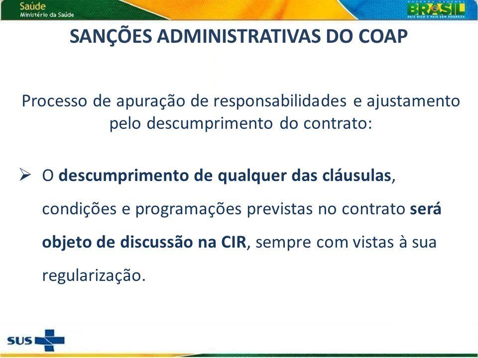 SANÇÕES ADMINISTRATIVAS DO COAP