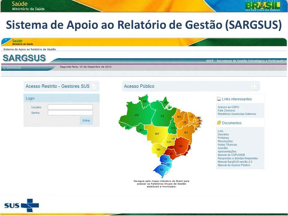 Sistema de Apoio ao Relatório de Gestão (SARGSUS)