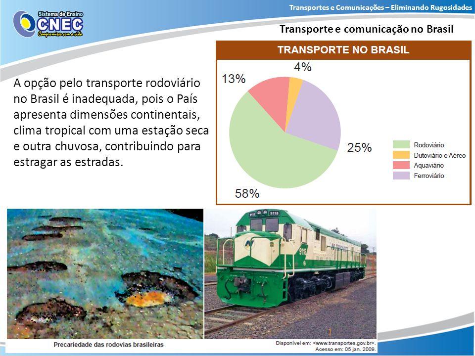 Transportes e Comunicações – Eliminando Rugosidades